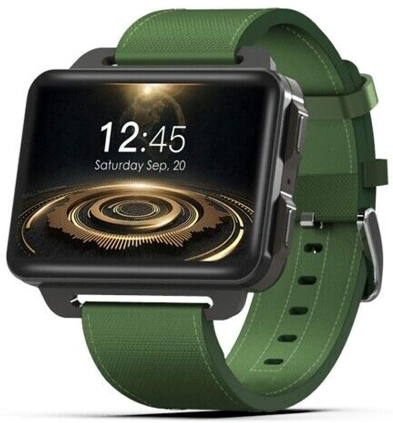 DM99 Bluetooth Smart Watch 2.2 inch Android OS 3G Smartwatch Phone DM99 Android Smart Watch Phone 1GB 16GB 1200 mAh Battery 130W Camera GPS WiFi SIM MP4 (Green)