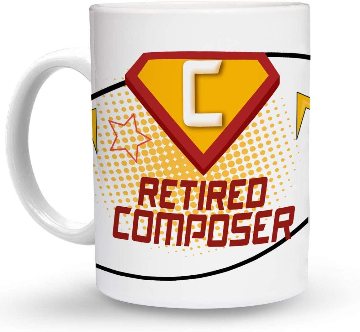 Makoroni - RETIRED COMPOSER Career 6 oz Ceramic Espresso Shot Mug/Cup Design#55