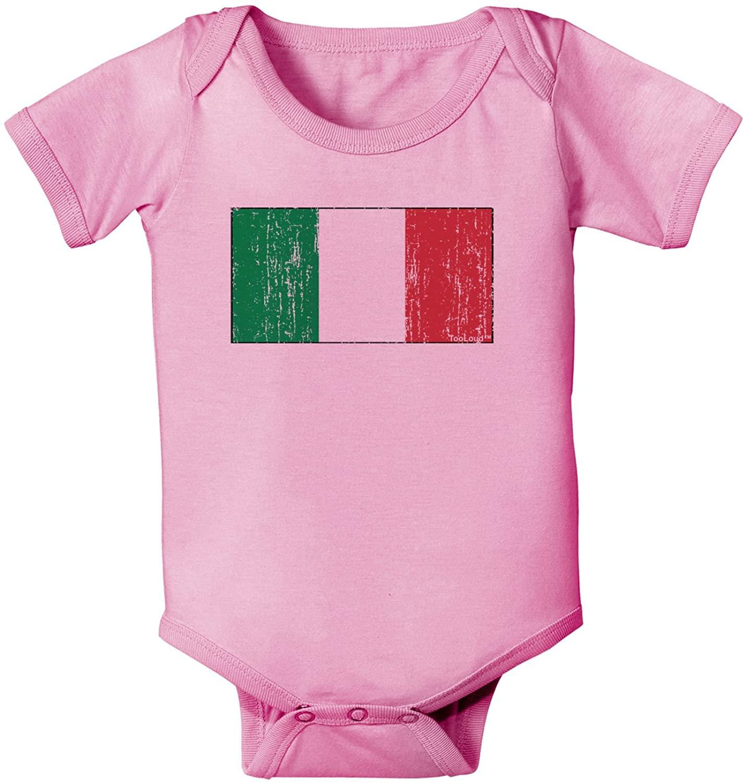TOOLOUD Italian Flag - Distressed Baby Romper Bodysuit