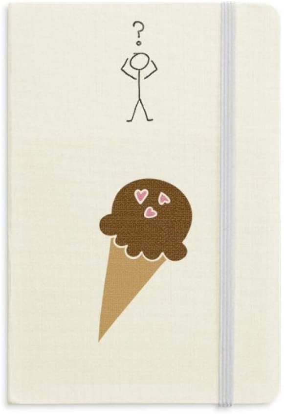 Peanut Chocolate Sweet Ice Cream Question Notebook Classic Journal Diary A5