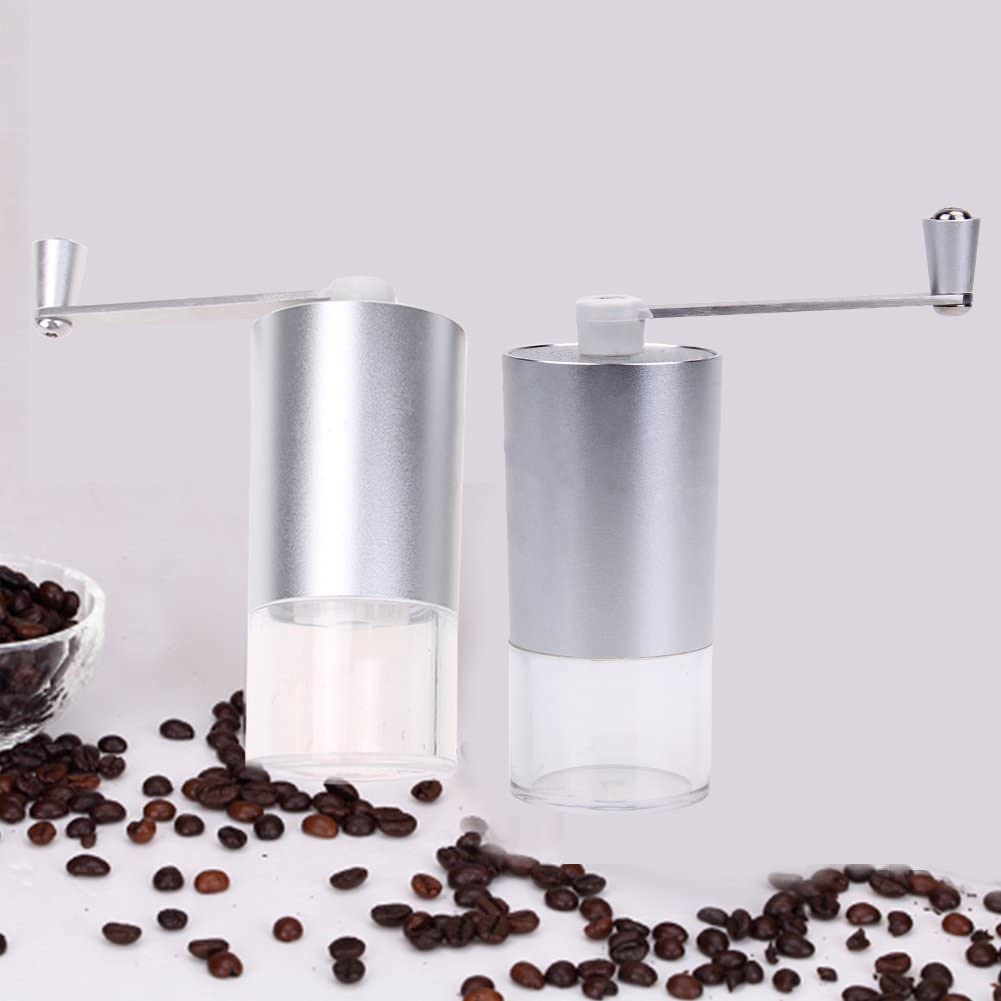 JPONLINE Mini Portable Washable Manual Coffee Grinder ABS+PC Material Stainless Steel Ceramic Core Kitchen Handhold Coffee Grinder PTSP NEW PRODUCT