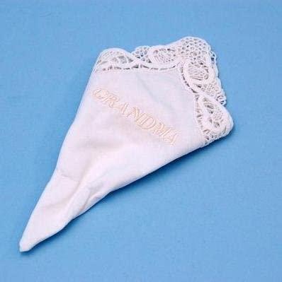 Grandma Hankie White Beverly Clark Wedding Handkerchief Keepsake