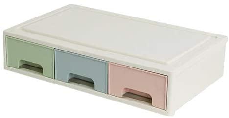 ZKSSSNH Organizador de maquillaje cajón Combinable pintalabios caja almacenamiento esmalte u?as joyería contenedor cosmético escritorio diversos accesorios A Green Pink (Color : O-1)