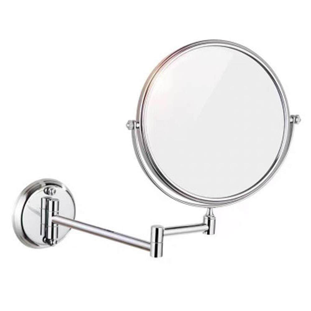 Vanity Mirror Wall Mounted Makeup Mirror 10.5'' Two-Sided Bathroom 360 Degree Swivel Rotation Cosmetic Mirror Vanity Mirror Extendable Arm In Bedroom Or Bathroom