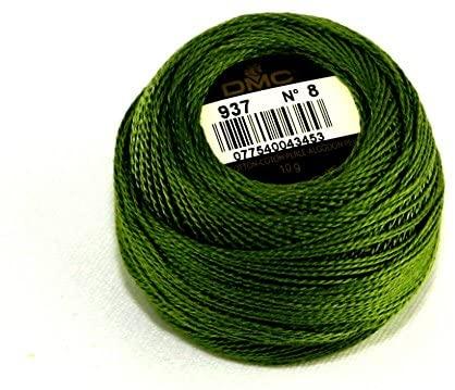 DMC Cotton Perle Thread Size 8 937 - per 10 Gram Ball