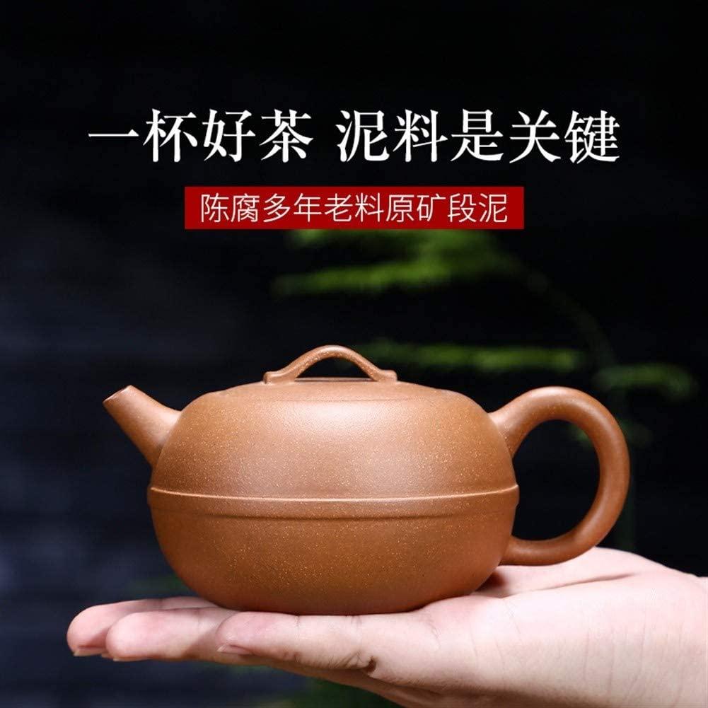 SHENLIJUAN teapot full creative handmade tea teapot ore (Color : Purple mud)