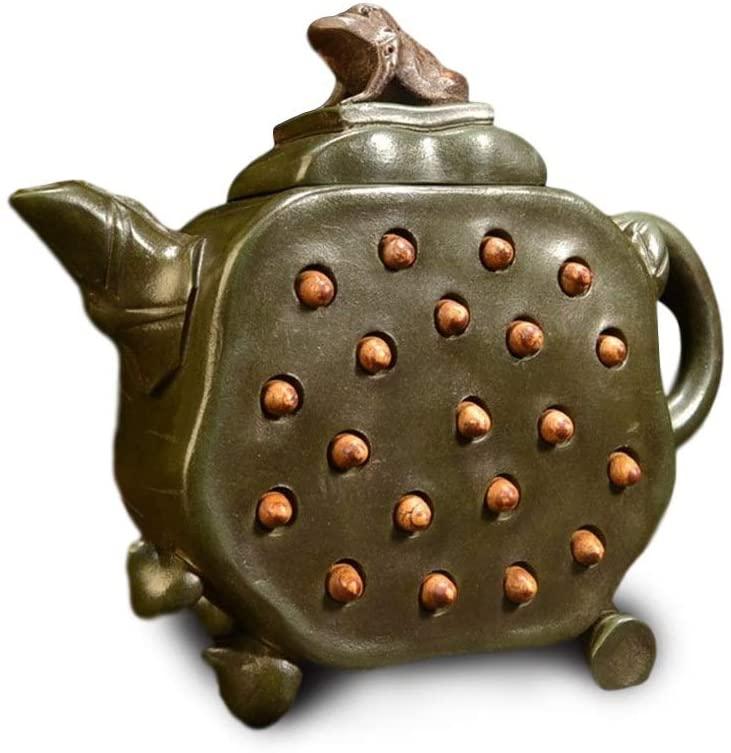 MADONG teapot lotus pot (Color : Black)