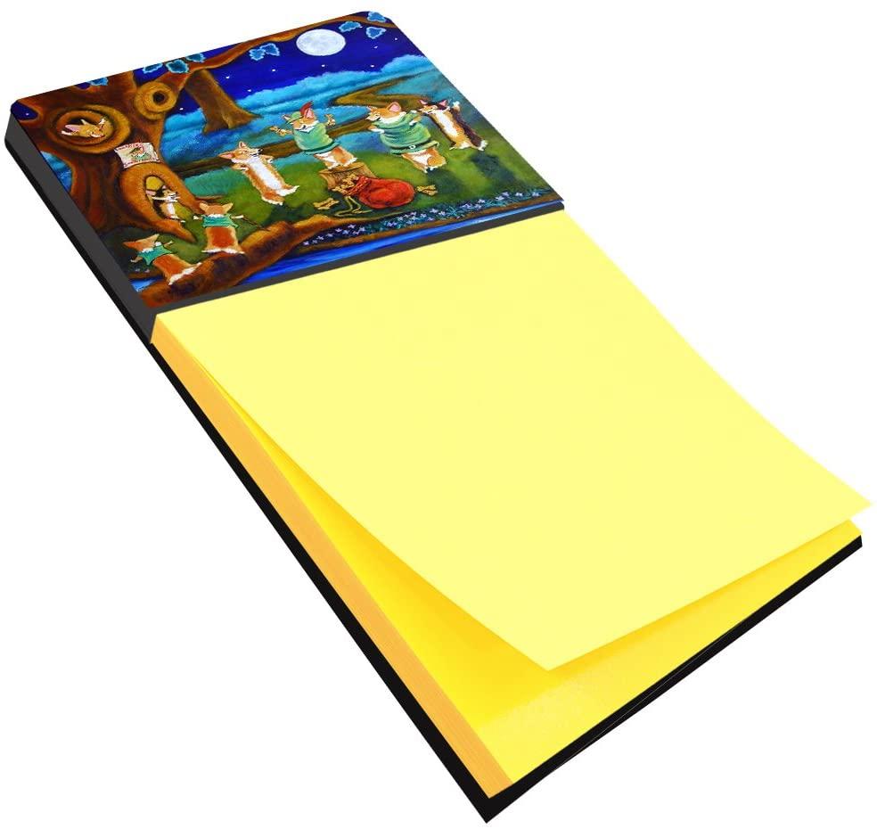 Carolines Treasures 7415SN Corgi Robin Hood Sticky Note Holder, Large, Multicolor