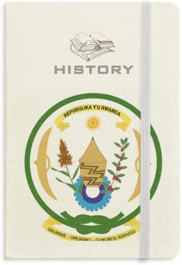 Rwanda Africa National Emblem History Notebook Classic Journal Diary A5