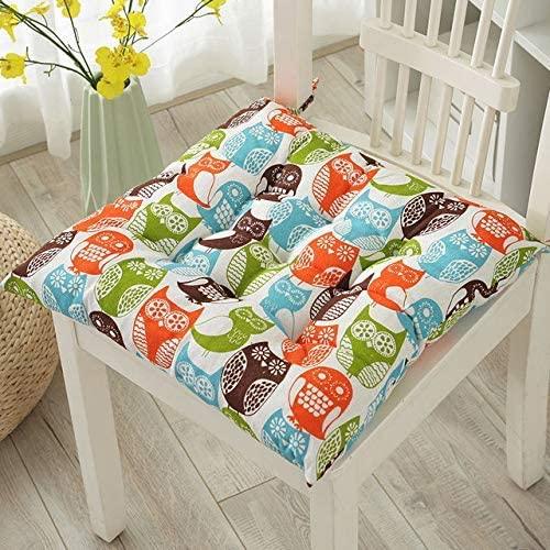 WEIZI 2-Pack Garden Chair Cushion seat Cushion Recliner Cushion Back Cushion Cushion with Low Back and Ties Chair Cushion for Office Chair and at Home Soft Foam (owl 50 50)