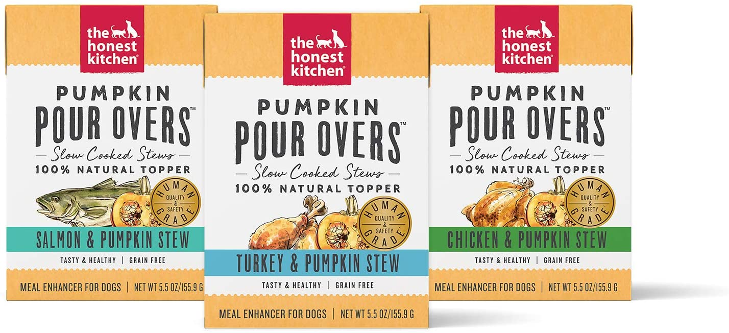 The Honest Kitchen Pumpkin POUR OVERS - Wet Dog Food Toppers