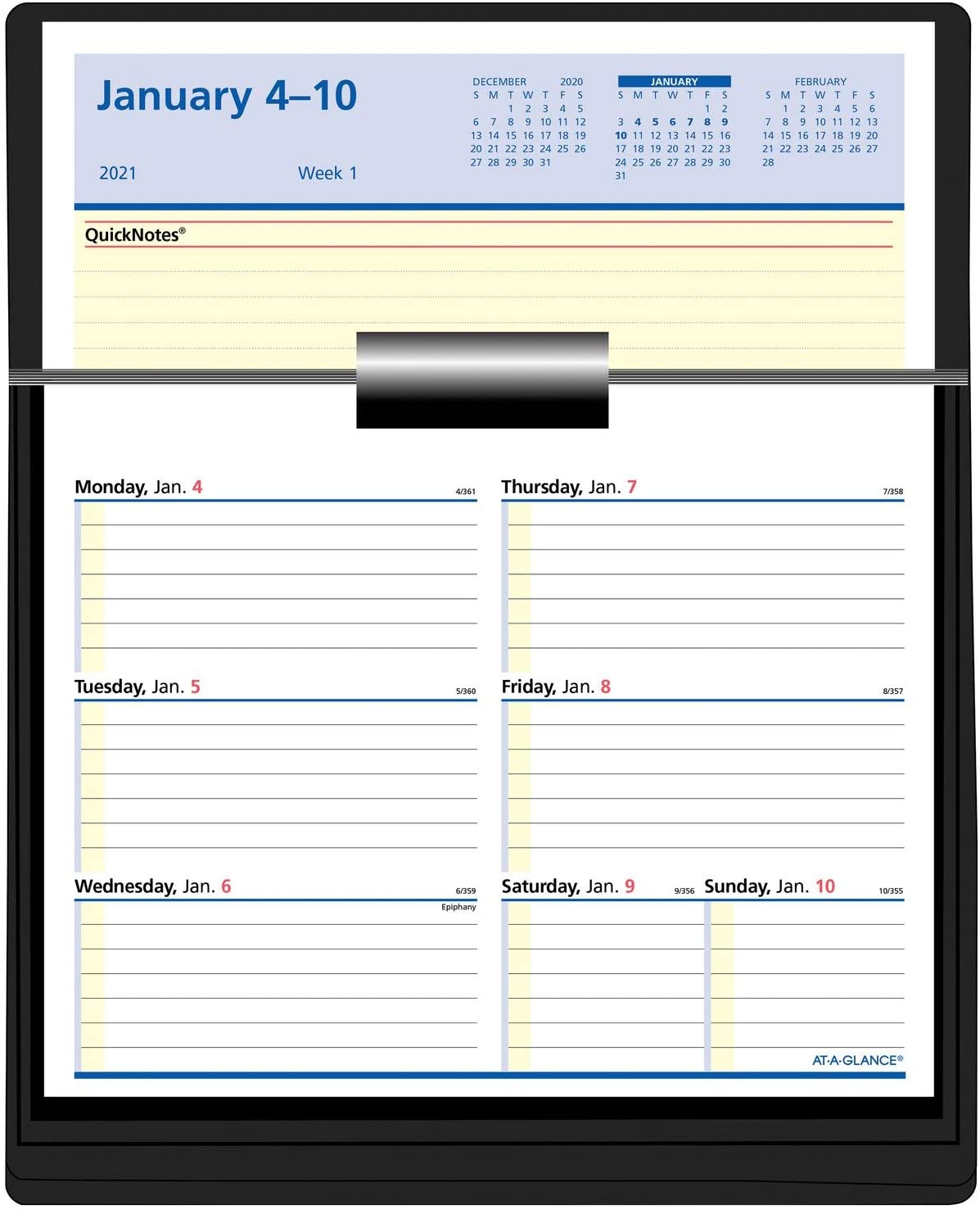 2021 Flip-A-Week Weekly Desk Calendar Refill by AT-A-GLANCE, 6