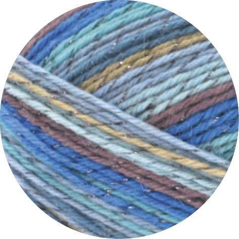 Lana Grossa Meilenweit Glamy 2703-Blue/Brown 100g / 3.5oz