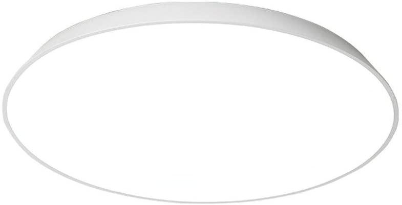BOSSLV 24W Ceiling Lamp Modern Creative Geometric White Iron Acrylic Lamp Metal Ceiling Lamp Decorative Ceiling Lamp 42Cm H5Cm, Dimming 3000K-6