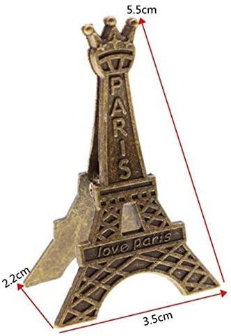 Clips 1pcs South Korea Stationery Creative Retro Tower Metal Clip Zinc Alloy Metal Craft Photo Clip Message Folders - (Color: 2pcs)