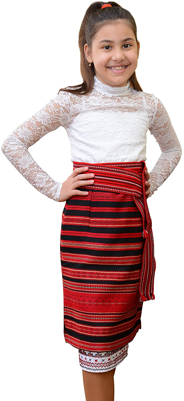 Ukrainian Traditional Woven Skirt for Teenager, plakhta, New