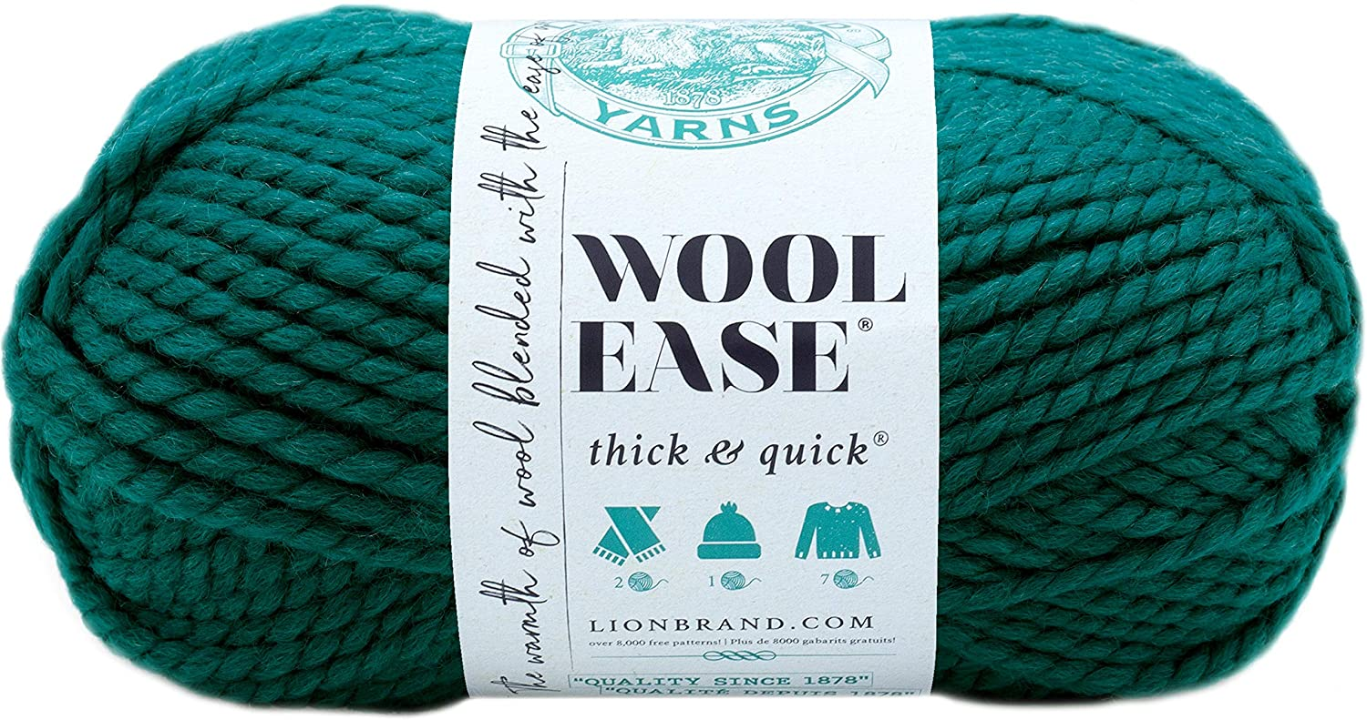 Lion  640-171 Wool-Ease Thick & Quick Yarn , 97 Meters, Peacock