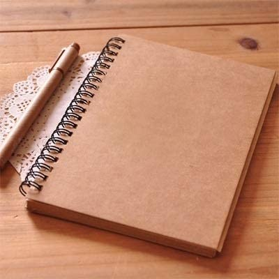 YINZHI Notebook Diary Notepad AE136522 Retro Simple Coil Sketch Notebook Painting Notepad Kraft Paper Diary Notebook(Brown) (Color : Brown)