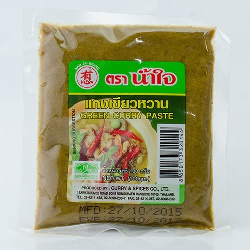 Thai Green Curry Paste By numjai 100g (3 Pack)