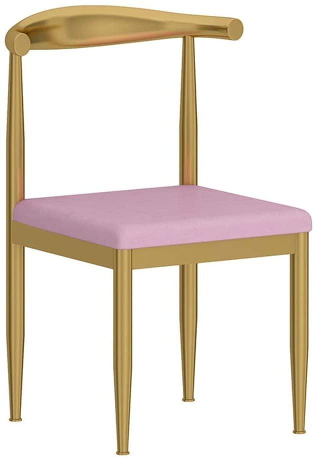 CAIS Chair Simple Atmosphere Metal Bar Chair, Golden Backrest Multifunction Negotiation Chair Western Restaurant Tea Shop Dessert Shop Dining Chair Non-Slip Seat,A,765051CM