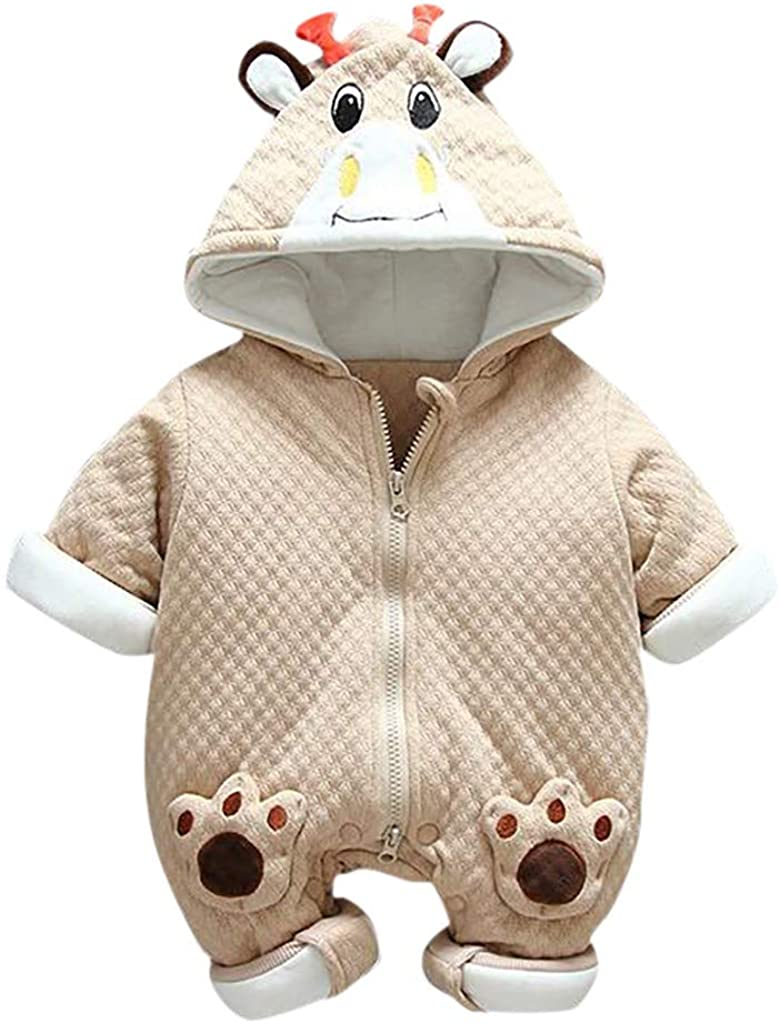 iLOOSKR 0-18M Newborn Baby Boys Girls Lovely Little Bear Dress Up Romper Jumpsuit Warm Plush Outfits Clothes