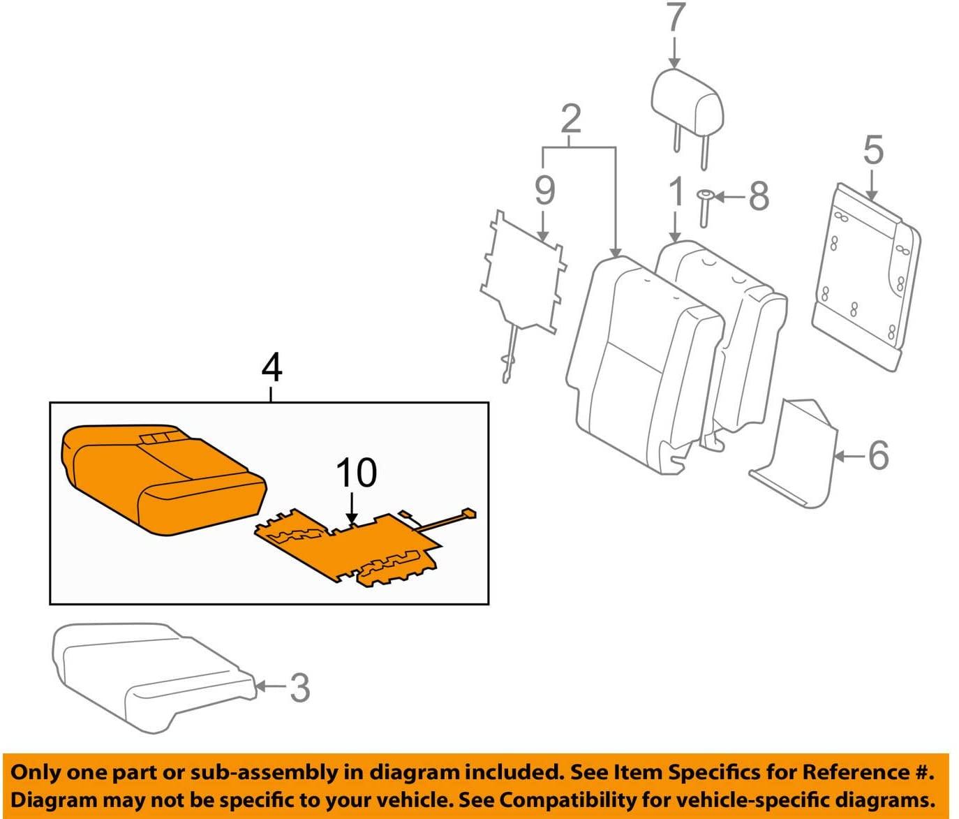 TOYOTA Genuine 71076-0C350-E0 Seat Cushion Cover