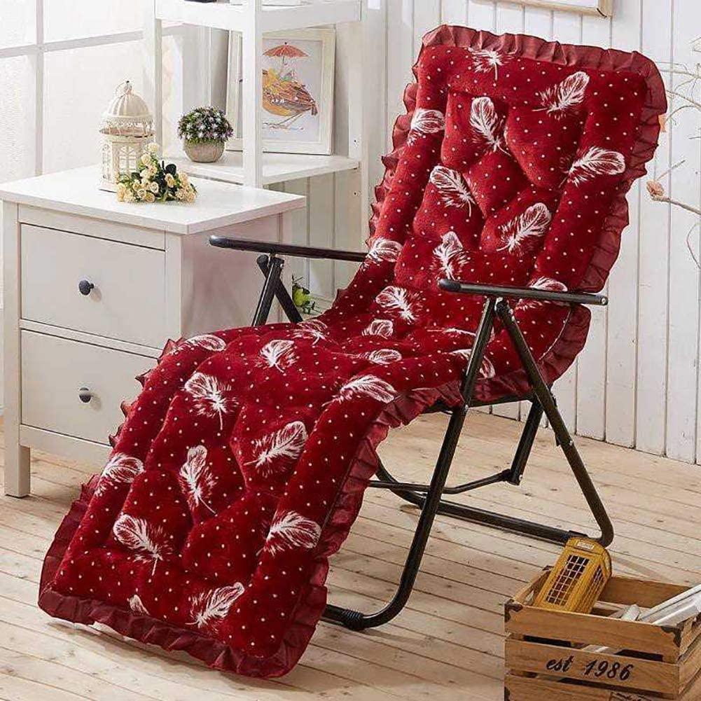 DL&VE Rocking Chair Cushions with Zipper,Thicken Plush Lounger Cushion High Backed Cushion,Soft Lounge Chair Cushion Patio Furniture Red A 48x148cm(18.9x58.3inch)