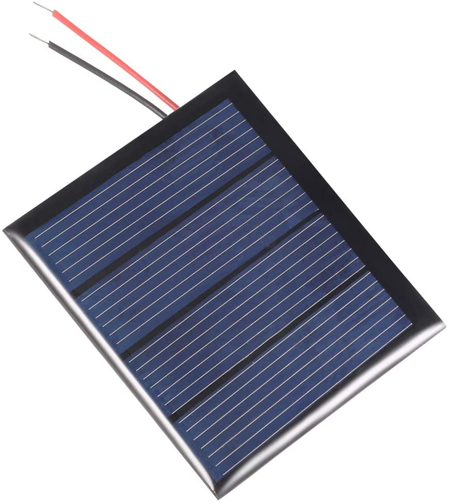 uxcell 0.36W 2V Small Solar Panel Module DIY Polysilicon with 1.4M Wire for Toys Charger