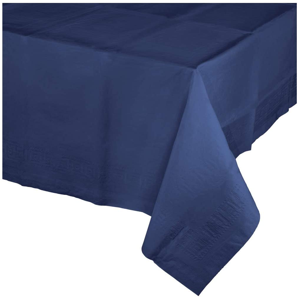 Navy Blue Paper Tablecloths, 3 ct