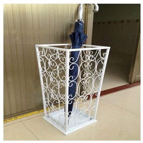 LACC Adhesive Umbrella Storage Rack, Household Folding Umbrella Sun Long Handle Umbrella Drain Rack (Color : White)