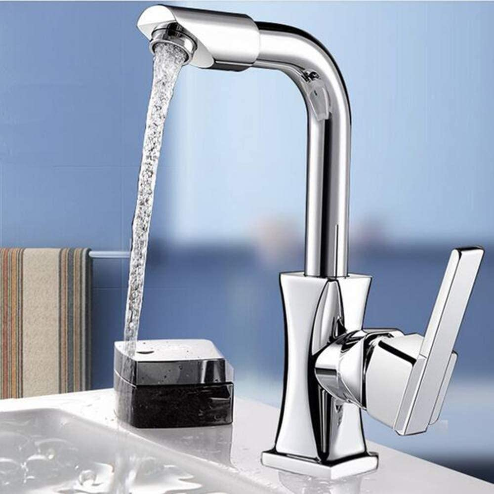 Waitousanqi Kitchen single cold faucet / 360 ° rotation/seat diameter 3.5cm / inlet and outlet pipe diameter 4 points/gift hose
