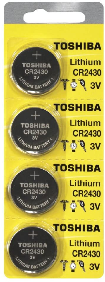 Toshiba CR2430 Battery 3V Lithium Coin Cell (4 Batteries)