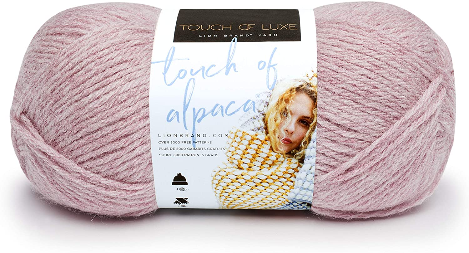 Lion Brand Yarn Touch of Alpaca Yarn, Blush