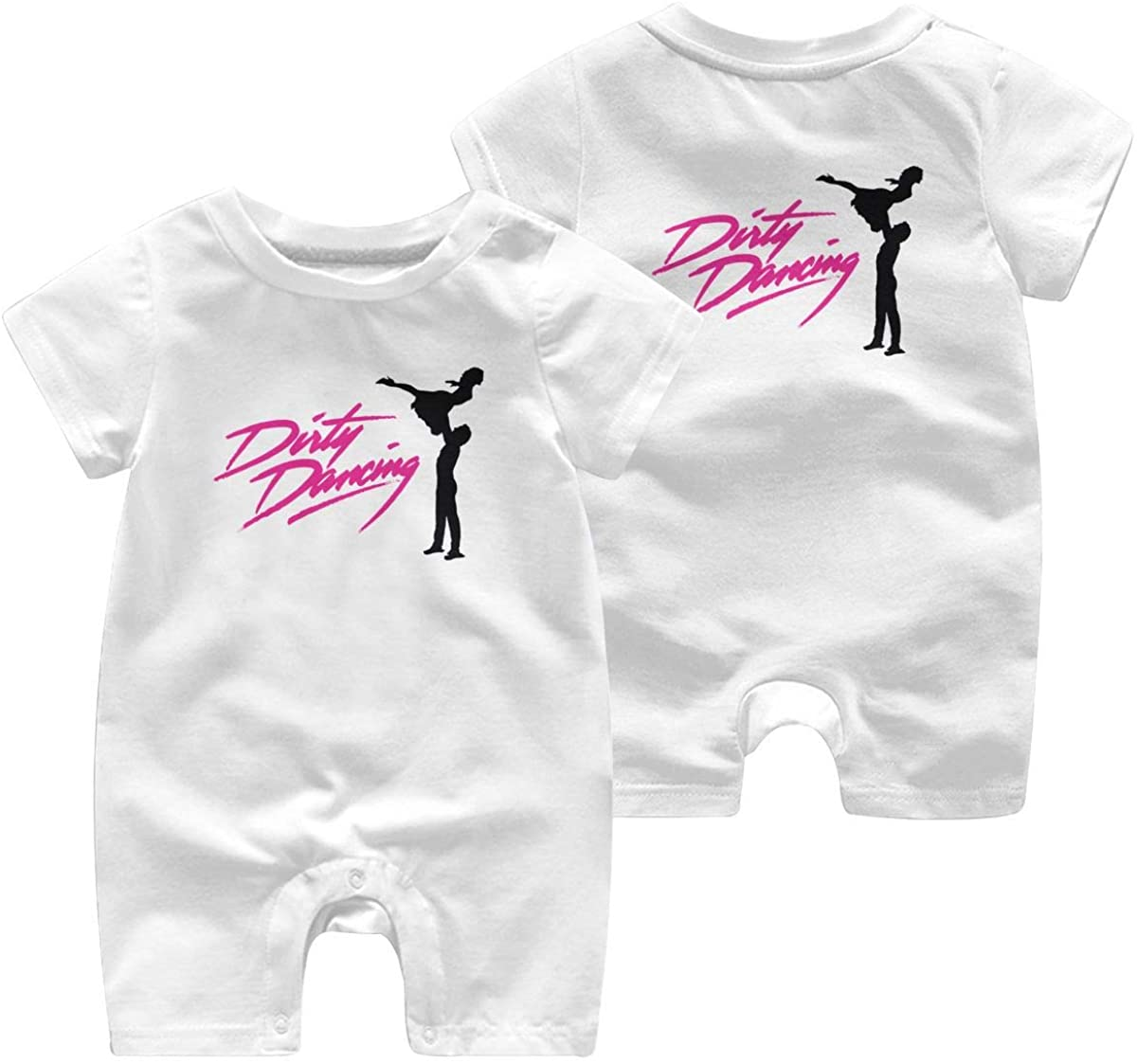 Qwtykeertyi Dirty Dancing Comfortable Baby Short Sleeve Jumpsuit Kid Baby Pajama Sleeper Cotton Romper