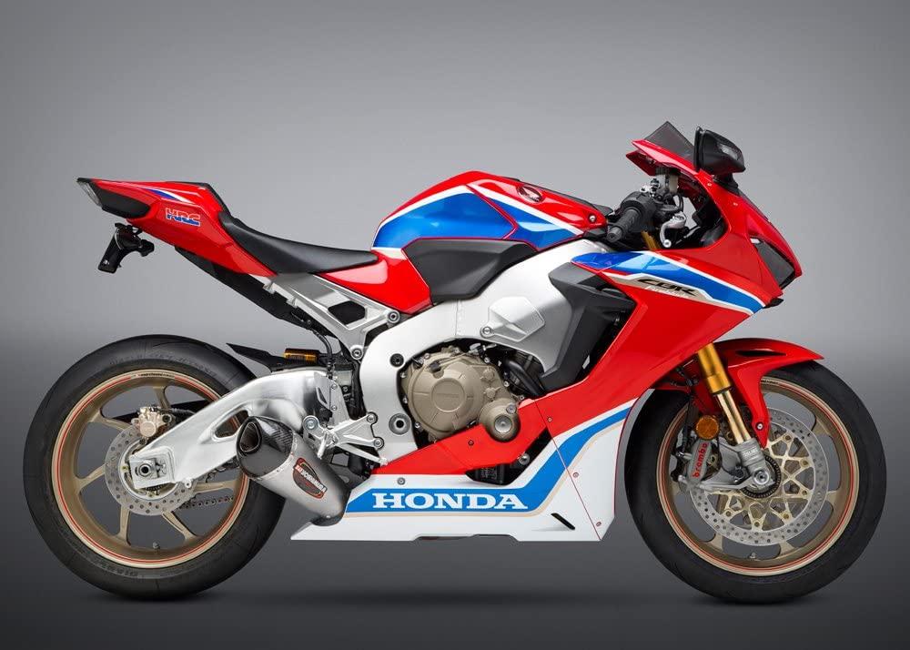 Yoshimura Alpha T Slip-On Exhaust (Street/Stainless Steel/Stainless Steel/Carbon Fiber/Works Finish) for 17-18 Honda CBR1000RR