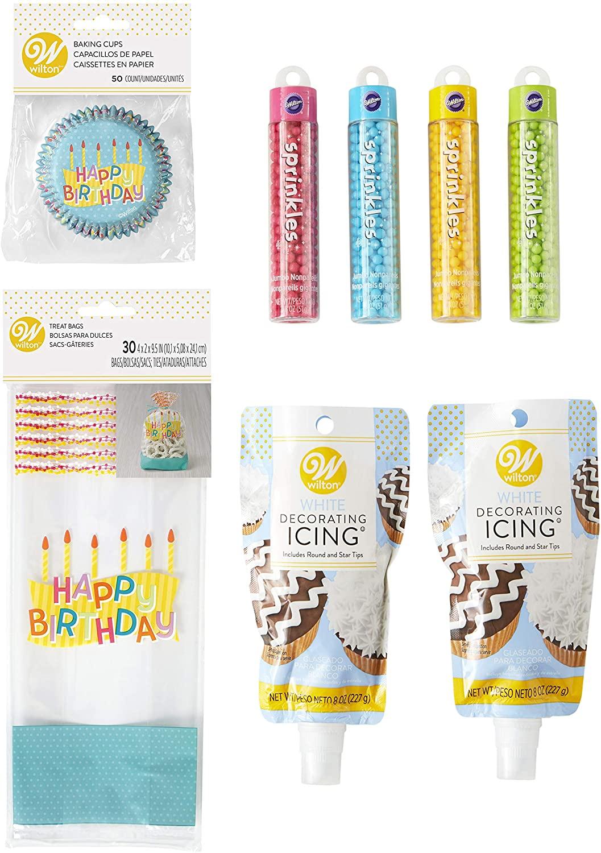 Wilton Happy Birthday Cupcake Party Set, 8-Piece