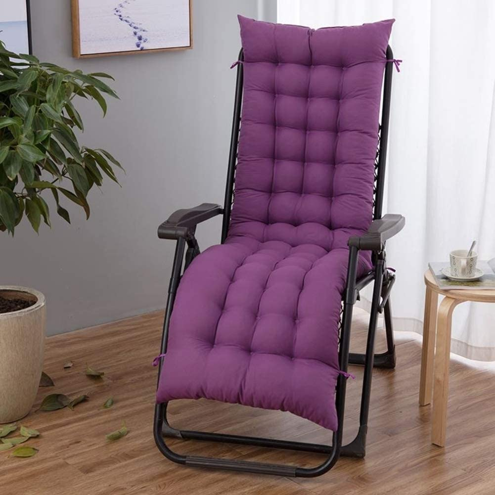 OLLOLCCY Sun Lounger Cushion Folding Rocking Chair Cushion Pad Replacement Seat Cushion Deckchair Lounger Cushion Wicker Chair Pad(Cushion Only) E 48x155cm(19x61inch)