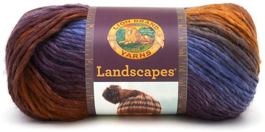 Craft County 147 Yards (134 Meters) of 100% Acrylic Multipurpose Medium Yarn – Machine Washable – for Knitting, Crochet, or Other Yarn Crafts (Mountain Range)