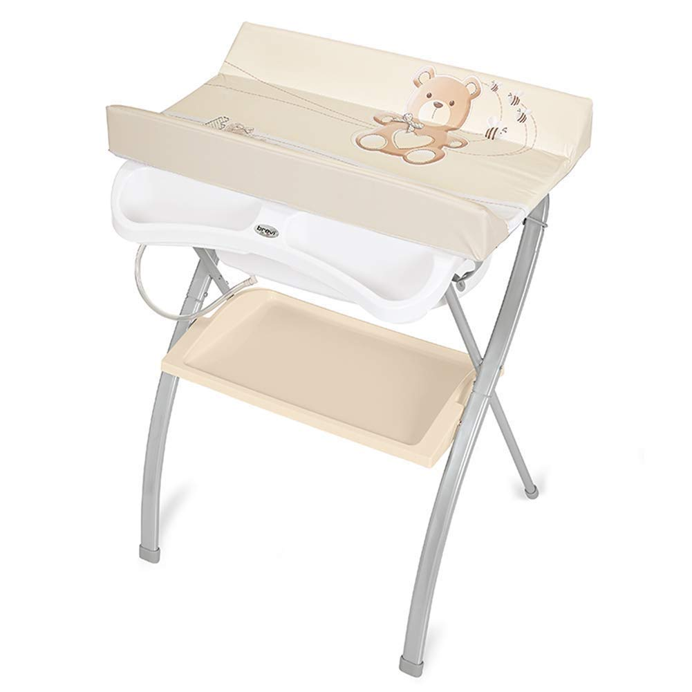 Changing table Baby Changing Unit Fold Diaper Station Multifunction Care Station Dresser for Infant Newborn Baby Changing Clothes Changing Table (Color : Beige)