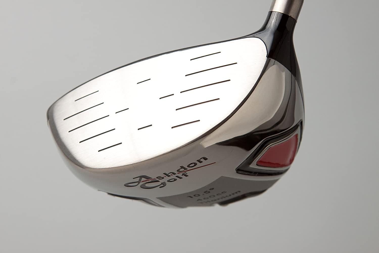 NEW Ashdon Golf Black Silver Driver, 9.5 Degree Loft, Regular Flex