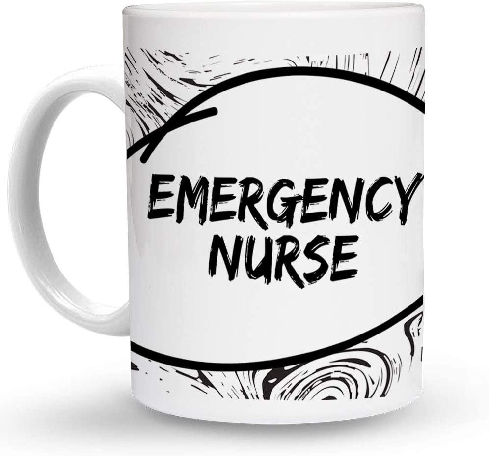 Makoroni - EMERGENCY NURSE Paramedic 6 oz Ceramic Espresso Shot Mug/Cup Design#32