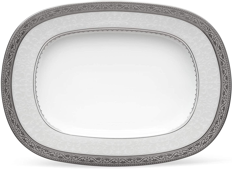 Noritake Odessa Butter Relish Tray, Platinum