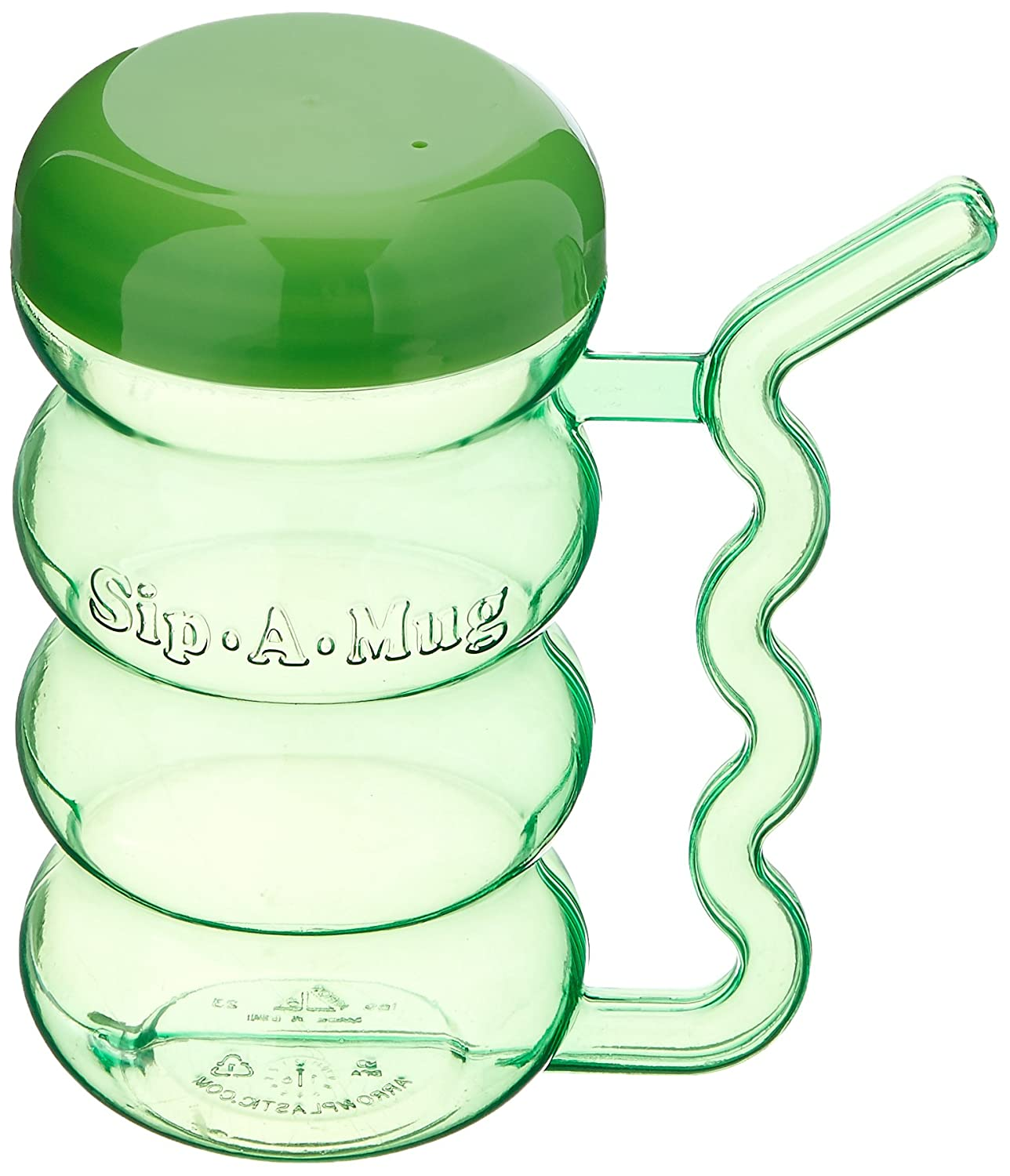 Sammons Preston Small Cup with Built-in Straw, 13 oz. Sippy Cup with Secure Lid and Handle for Spill Prevention, Spillproof Mug with Fun Straw for Kids, Elderly, Disabled, and Handicapped