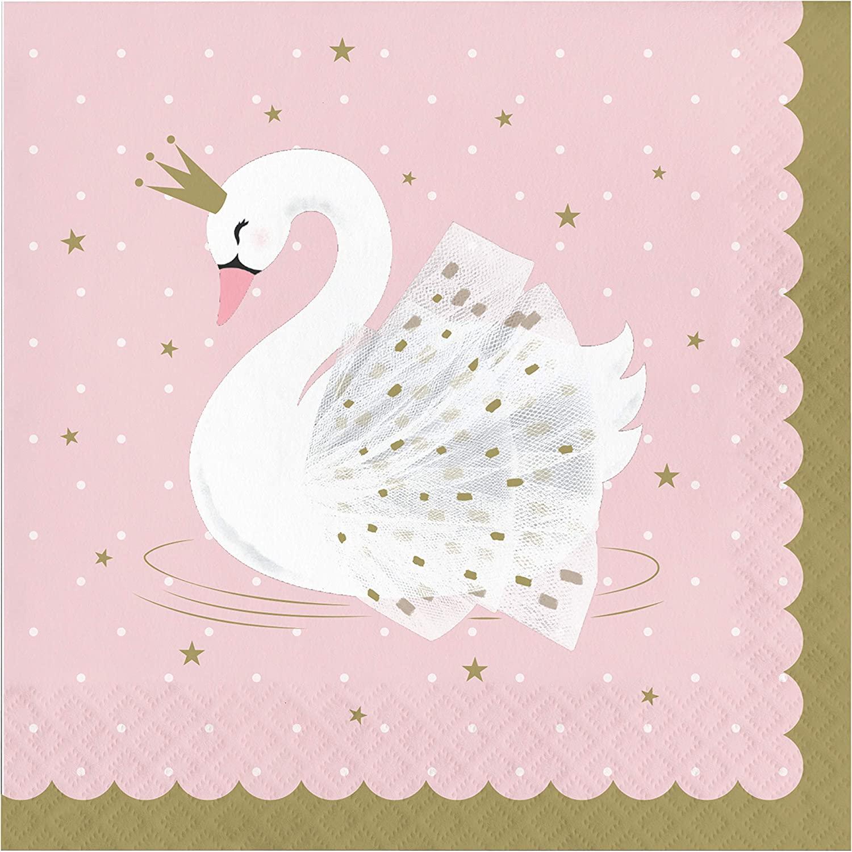 Stylish Swan Napkins, 48 ct