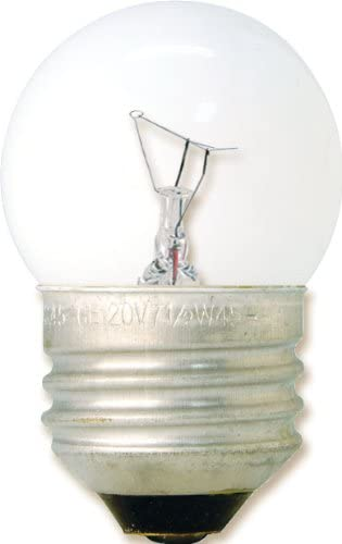 GE Lighting 11847 7.5-Watt 53-Lumen Specialty S11 Incandescent Light Bulb, Clear