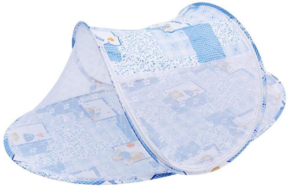 dalinana Kids Baby Multifunctional Folding Zipper Cartoon Mosquito Net Crib Netting