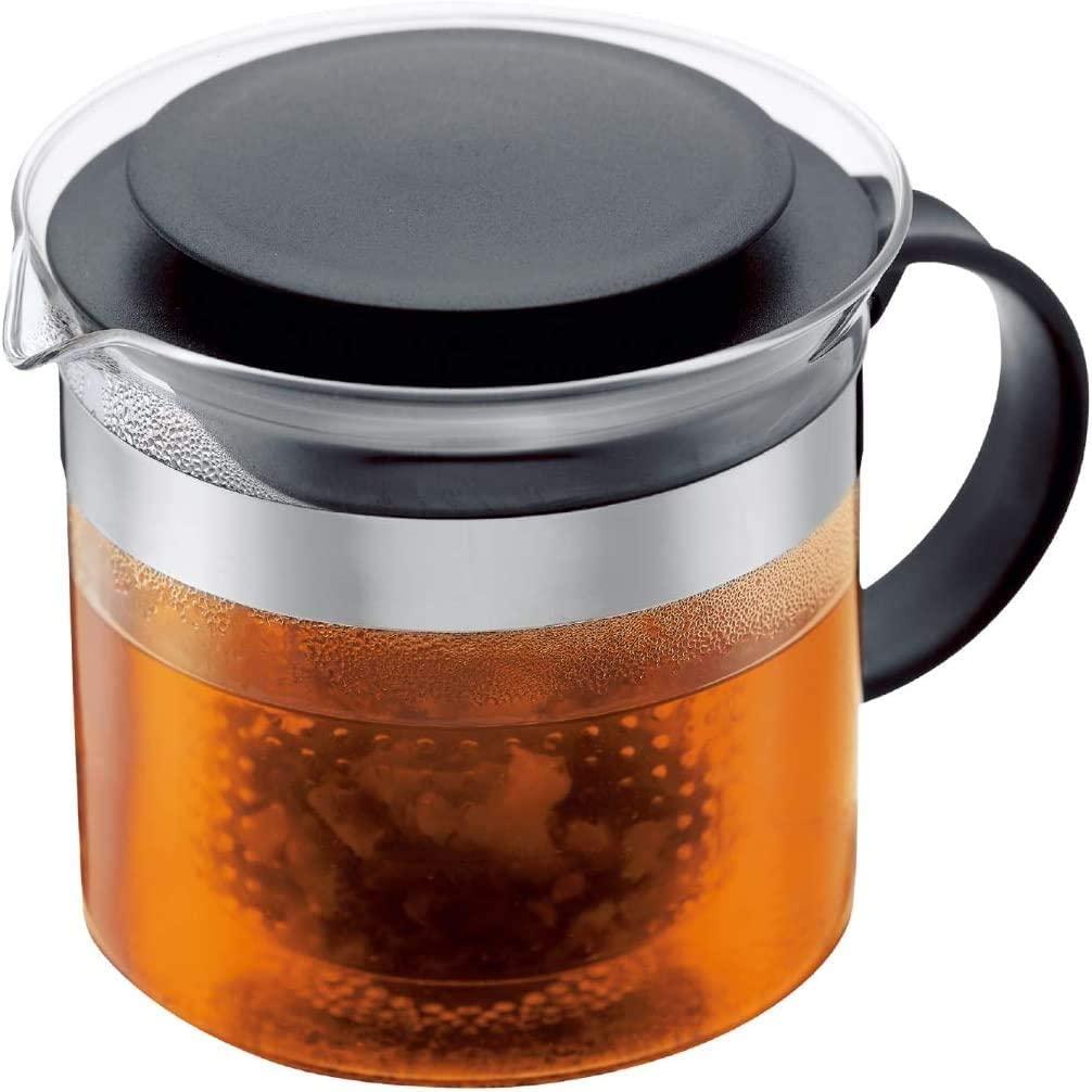 Schwaarzt Kal A Waarme Glas Harz Filter Filter Tepot Kaffi Pot 1L3 Coupe