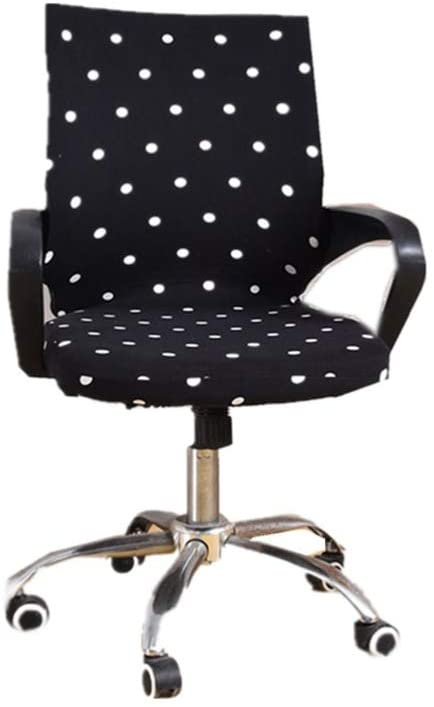 VOSAREA Dot Pattern Desk Chair Covers Office Chair Slipcover Stretch Chair Cover Protector