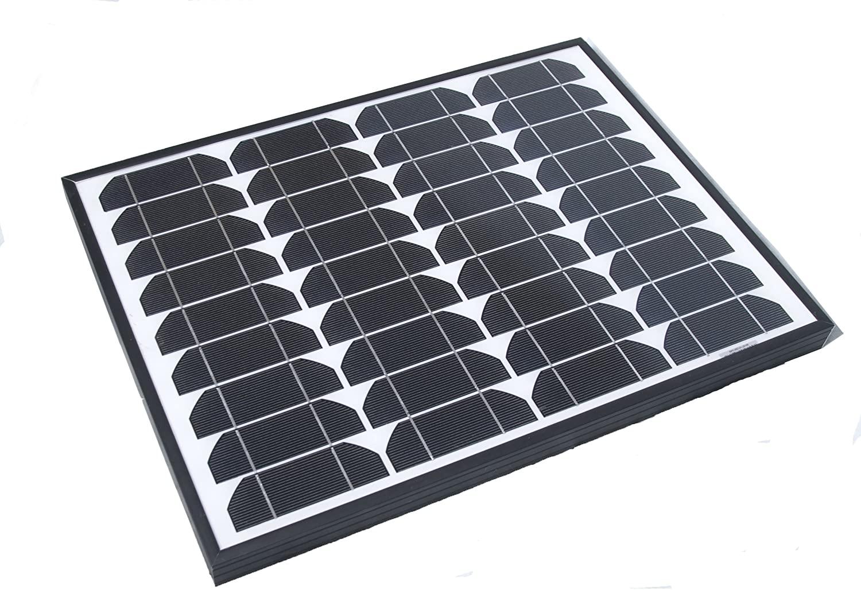 Nature Power 50042 Monocrystalline Solar Panel with Aluminum Frame, 40-watt