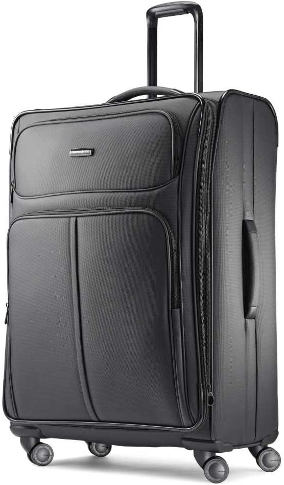 Samsonite Leverage LTE Softside Expandable Luggage with Spinner Wheels, Charcoal, Checked-Large 29-Inch